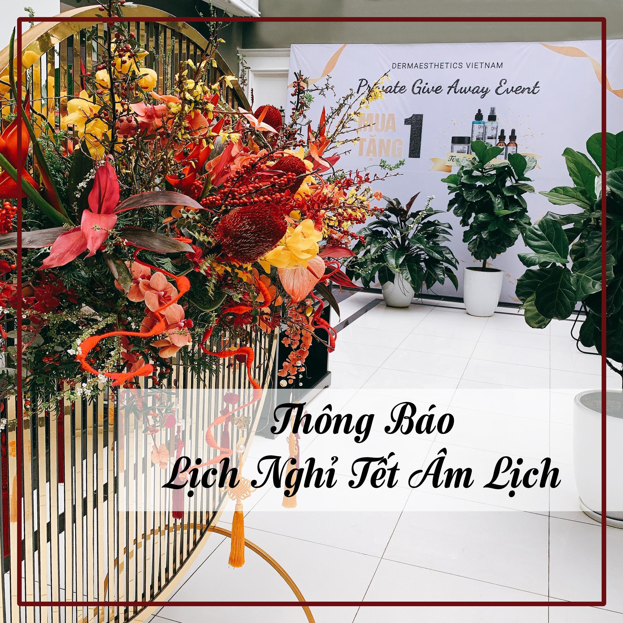 Dermaesthetics Vietnam thông báo lịch nghỉ Tết Nguyên Đán 2020